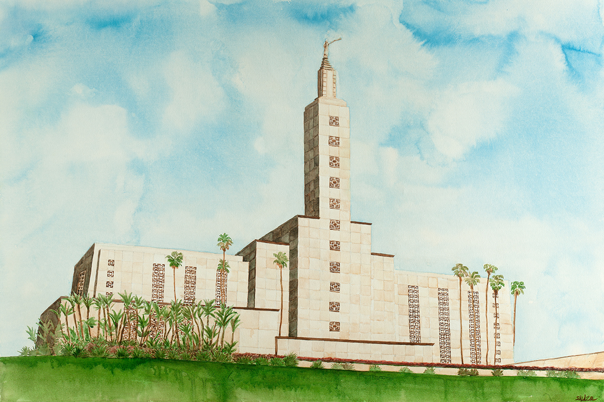 la temple flat file painting